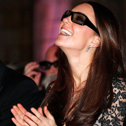Kate Middleton Wearing 3D Glasses Pictures