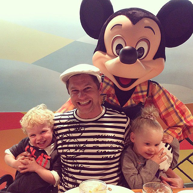 Gideon and Harper Burtka-Harris had a surprise guest at dinner in the Magic Kingdom. Source: Instagram user instagranph