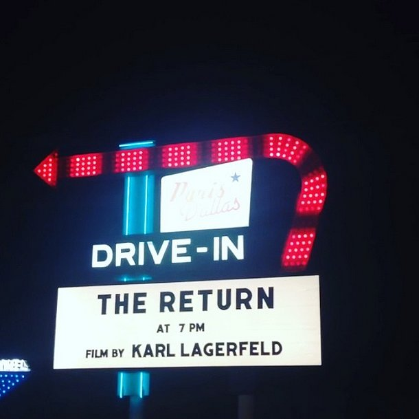 It was an extraspecial feature at the drive-in movie in Dallas. Source: Instagram user bat_gio