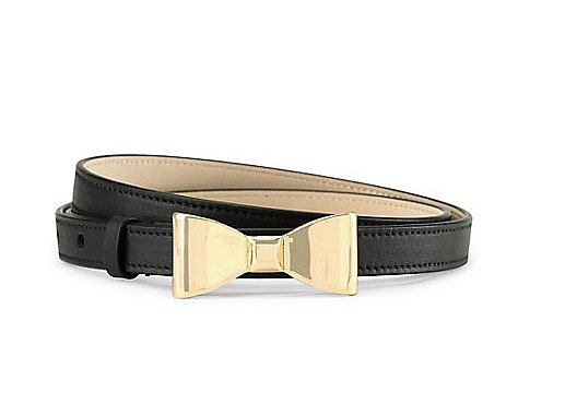 For girlier types, may we suggest this C. Wonder Bow Buckle Skinny Belt ($48)?