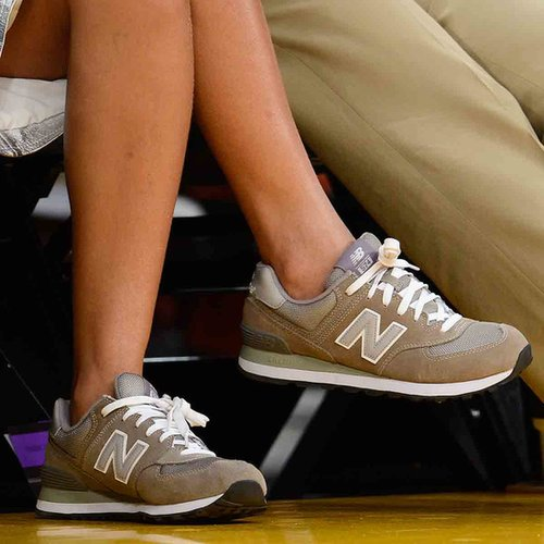 Rihanna Wearing Gray New Balance Sneakers
