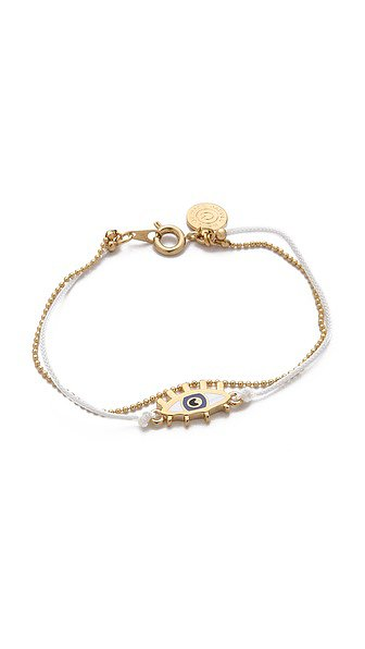 Add to your sister's arm party with this Marc by Marc Jacobs Enamel Eye Friendship Bracelet ($38).