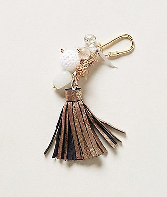 This Anthropologie Leather Tassel Keychain ($22) is so unique, she'll never lose her keys.