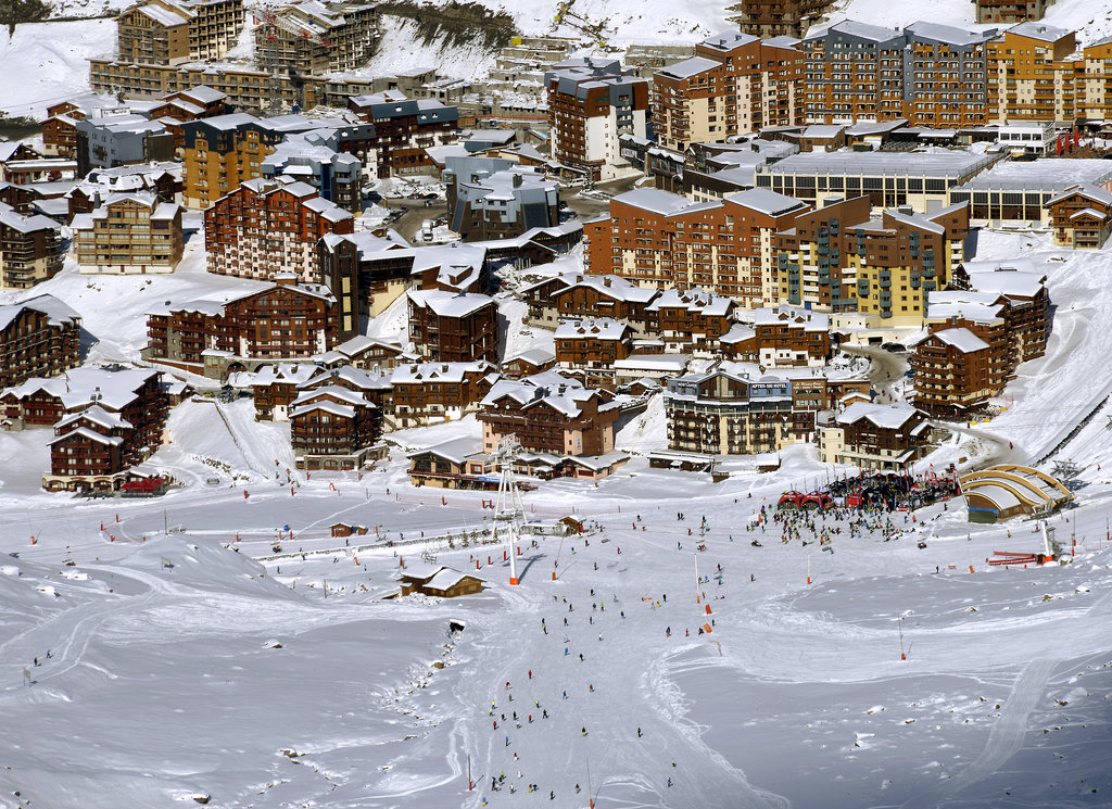 People gathered in the French Alps to enjoy the opening weekend at Val Thorens ski station.