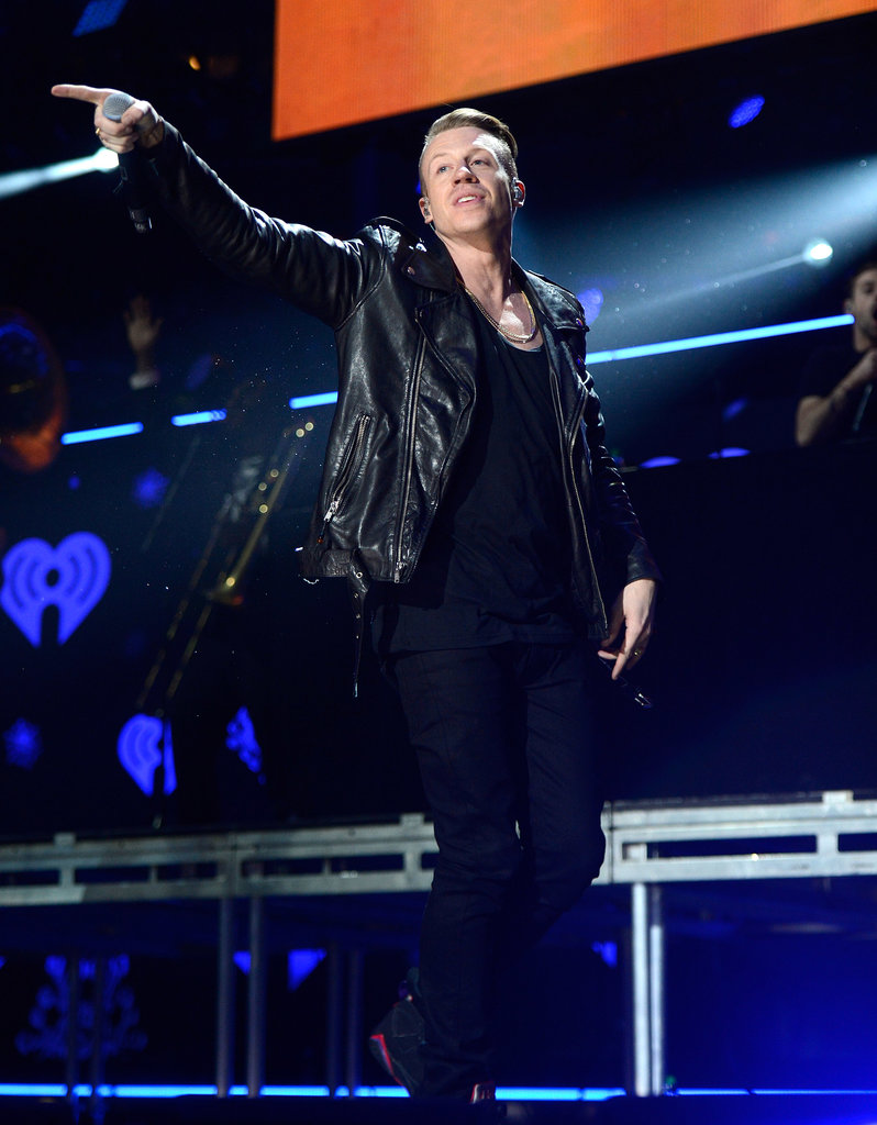 Macklemore performed his hits onstage.
