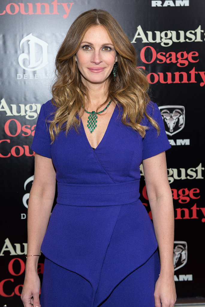 Julia Roberts made a rare red carpet appearance at the August: Osage County premiere, which was hosted by DeLeon Tequila.