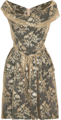 Vivienne Westwood Anglomania Thursday metallic lace dress