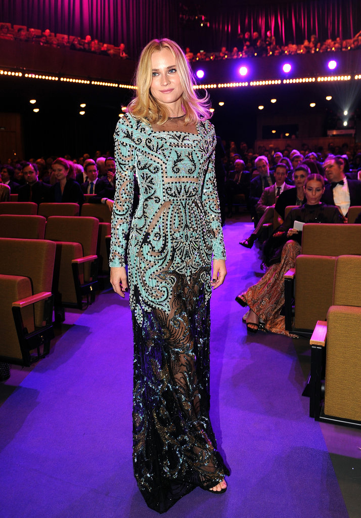 At Berlin's European Film Awards, Diane Kruger was sheer perfection in one of the year's most daring reveals: Valentino's Fall 2013 Haute Couture gown.