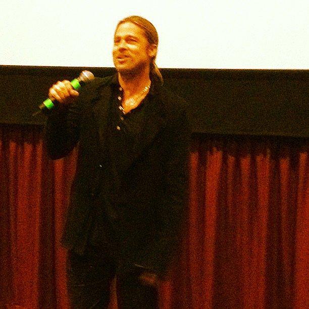 Brad Pitt surprised us all at the SF screening of World War Z!