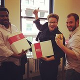 Seth Rogen and Craig Robinson stopped into our SF office for In-N-Out and Must Have boxes!