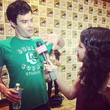 Bill Hader got animated while we chatted with him at Comic-Con.