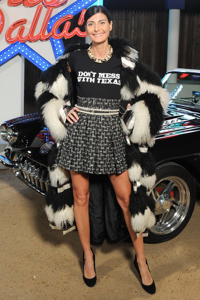 Giovanna Battaglia at the Chanel Métiers d'Art collection show.