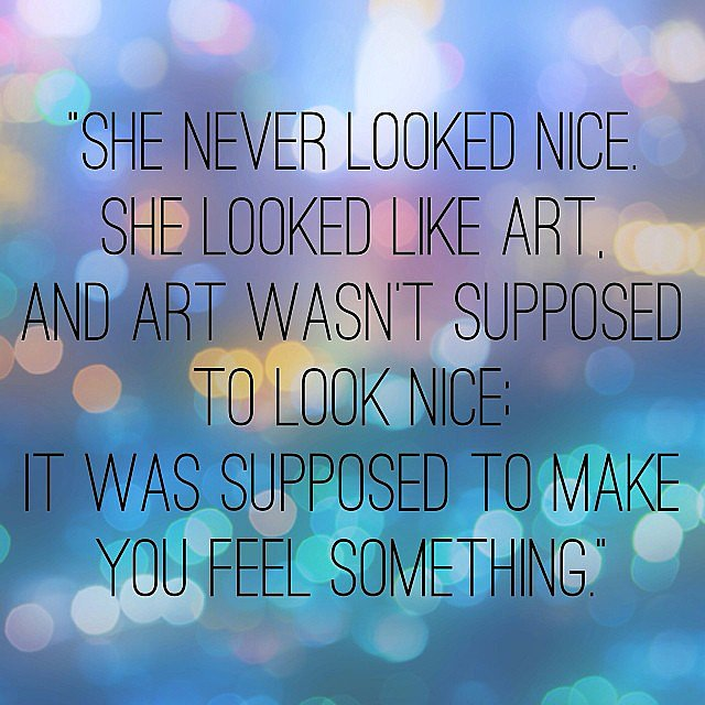 Such a beautiful quote from the book Eleanor & Park. Source: Instagram user popsugarlove