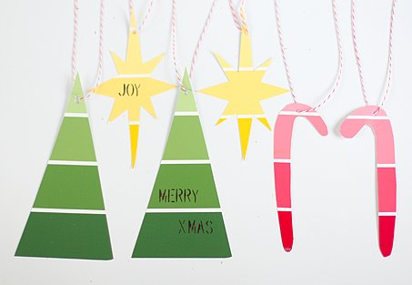 Paint-Chip Ornaments
