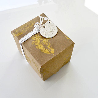 DIY Gold Leaf Gift Wrap