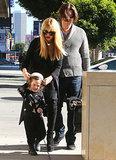 Rachel Zoe and husband Rodger Berman ran errands with little Skyler in LA on Saturday.