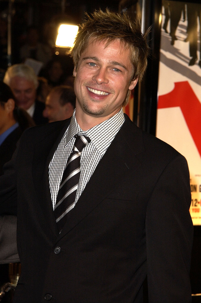 Brad Pitt was all smiles (and hotness) at the LA premiere of Ocean's Eleven in December 2001.