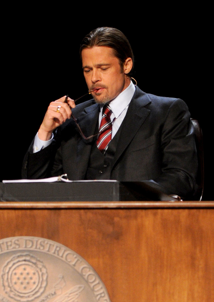 Brad Pitt gave us this unintentionally hot photo op during an equal rights event in LA in March 2012.