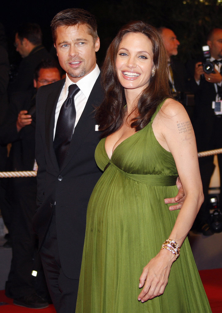 Brad Pitt joined his girlfriend Angelina Jolie at the Cannes Film Festival in May 2008 — she was pregnant with the couple's twins, Knox and Vivienne, at the time.