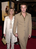 Brad Pitt and Jennifer Aniston coordinated their neutral looks for the LA premiere of The Mexican in February 2001.