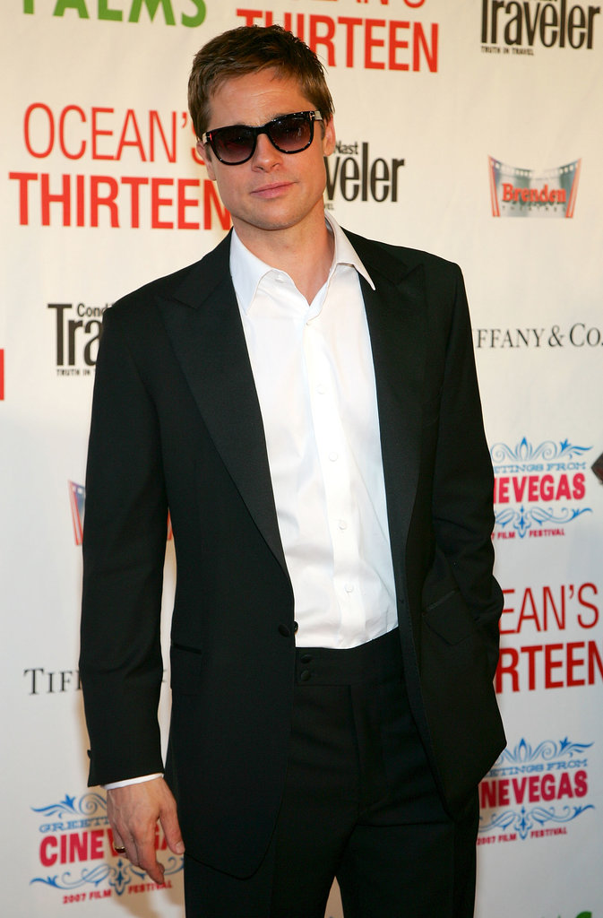 Brad Pitt looked cool, calm, and collected in a pair of shades at the Ocean's Thirteen Las Vegas Screening in June 2007.