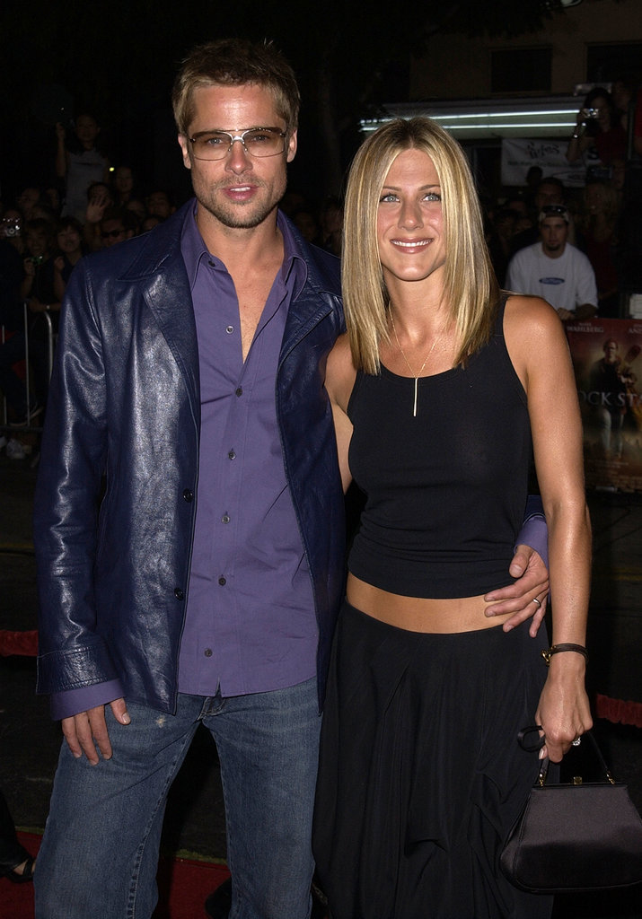 Brad Pitt looked just like a rock star at the September 2001 premiere of Rock Star with Jennifer Aniston in LA.