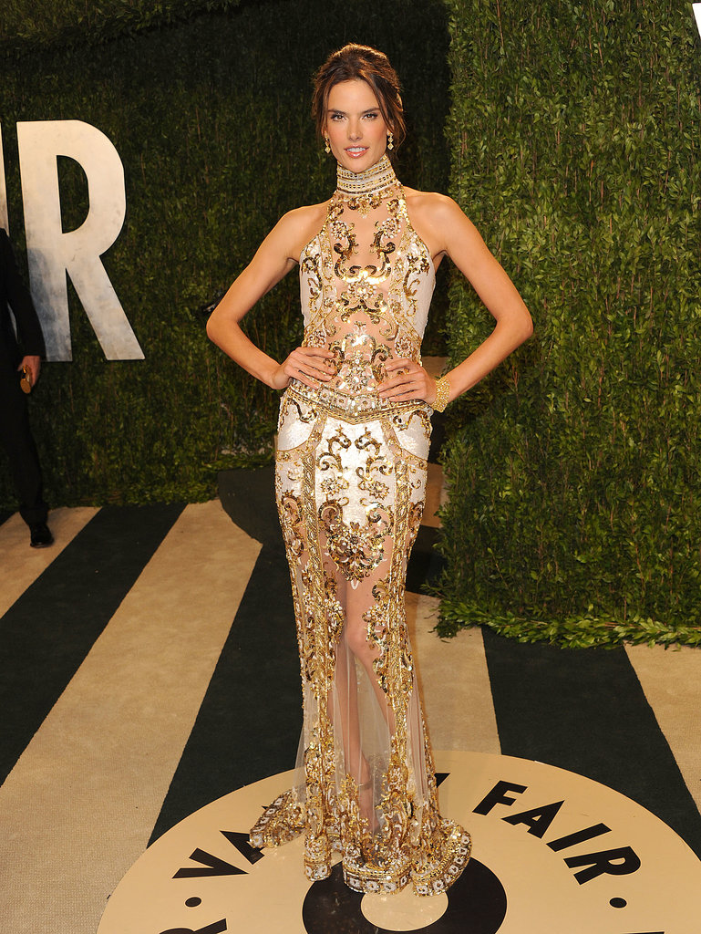 Alessandra Ambrosio at the Vanity Fair Oscar Party