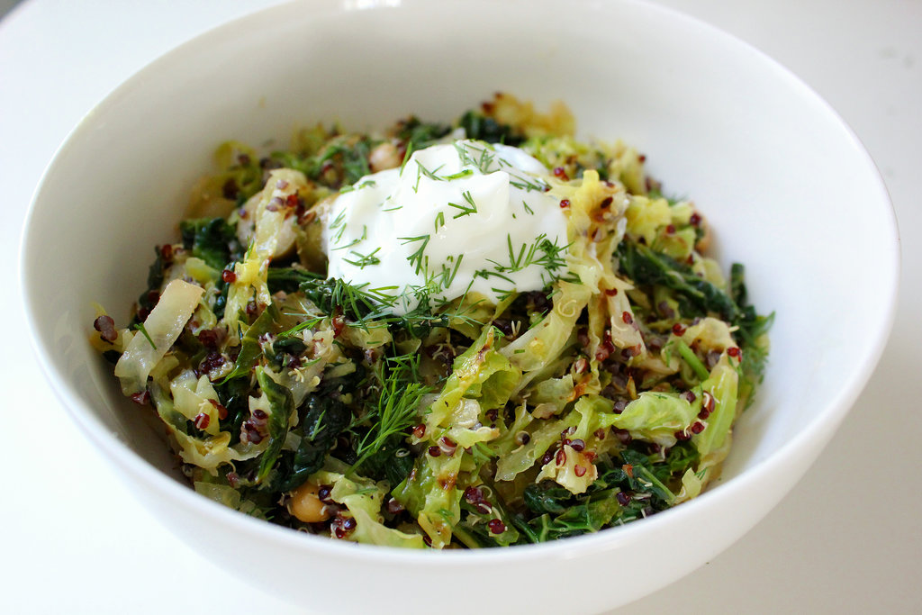 Toasted Quinoa and Lemon Cabbage