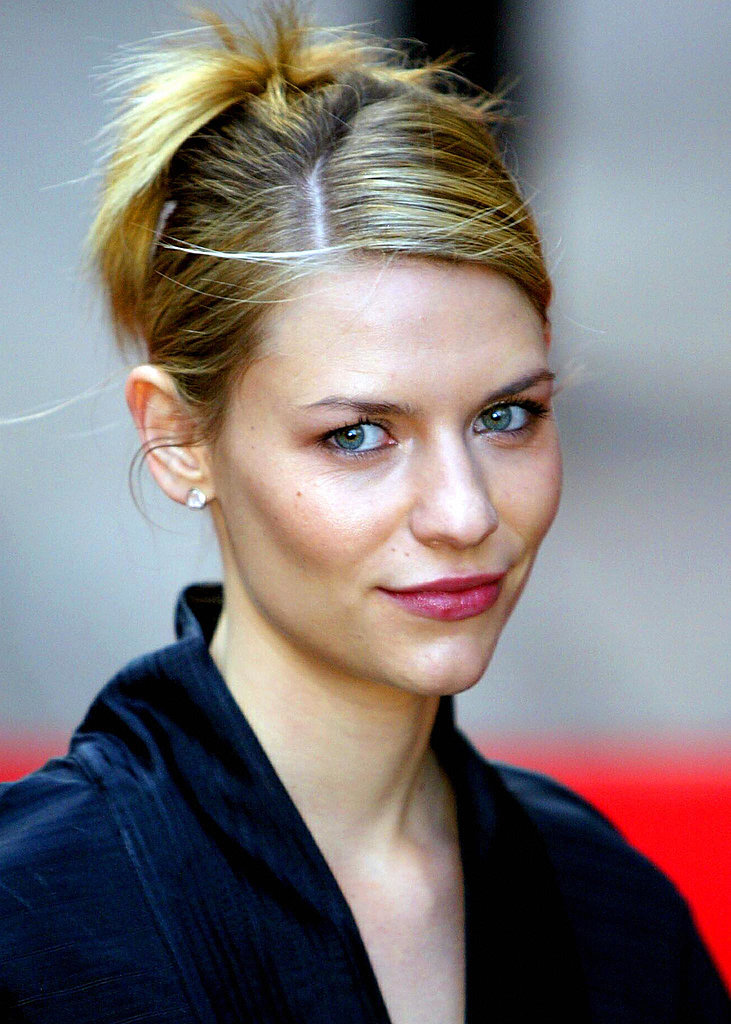 At the 2003 premiere of Terminator 3: Rise of the Machines, Claire pulled her hair into a center-parted updo, allowing her berry lips to stand out.