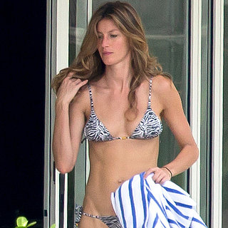 Gisele Bundchen Wearing a Bikini in Miami