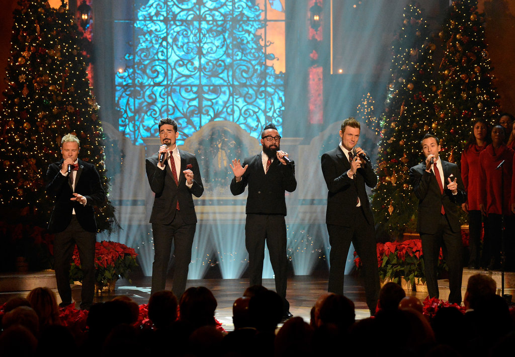 Backstreet's back! The Backstreet Boys performed for President Barack Obama and other guests at the TNT special Christmas in Washington in Washington, DC.