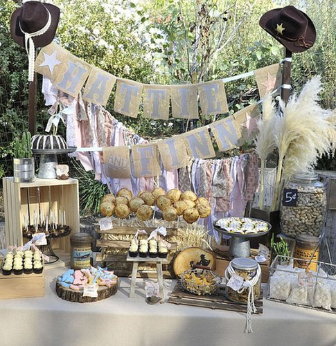 Last year Tori Spelling threw a joint bash for her daughter Hattie and son Finn, complete with cowboy boots and faux ponies.  Source: ToriSpelling.com