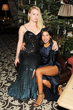 Leven Rambin and Hannah Bronfman at the A Small World Winter Weekend in Gstaad.