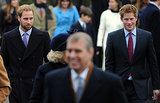 Prince William and Prince Harry were all smiles on Christmas Day in 2008.