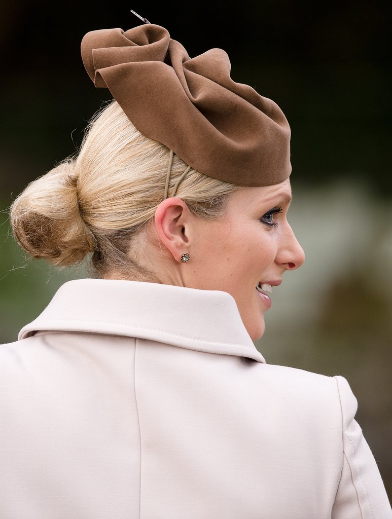 Zara Phillips sported some fancy headwear in 2012.
