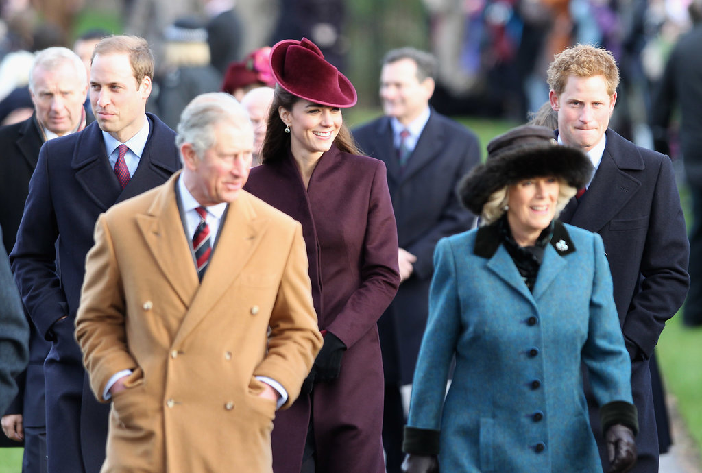 Kate Middleton joined her new in-laws for Christmas Day service in 2011.
