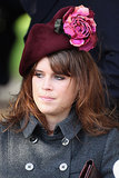 Princess Eugenie rocked a floral hat for the traditional Christmas Day service in 2011.