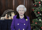 Queen Elizabeth II posed for pictures ahead of recording her Christmas Day message in 2010.
