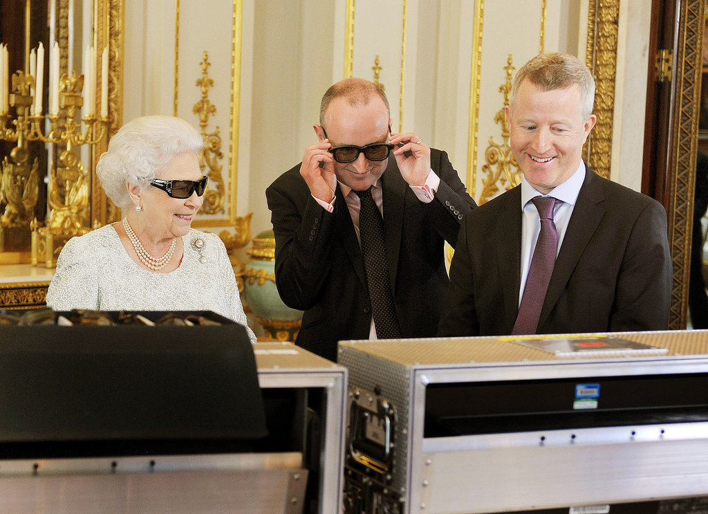 Queen Elizabeth II sported some 3D glasses to watch her first-ever 3D Christmas Day TV broadcast in 2012.