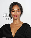 The easiest way to add some flirty flare to your updo? Keep a little piece hanging around your face, à la Zoe Saldana.