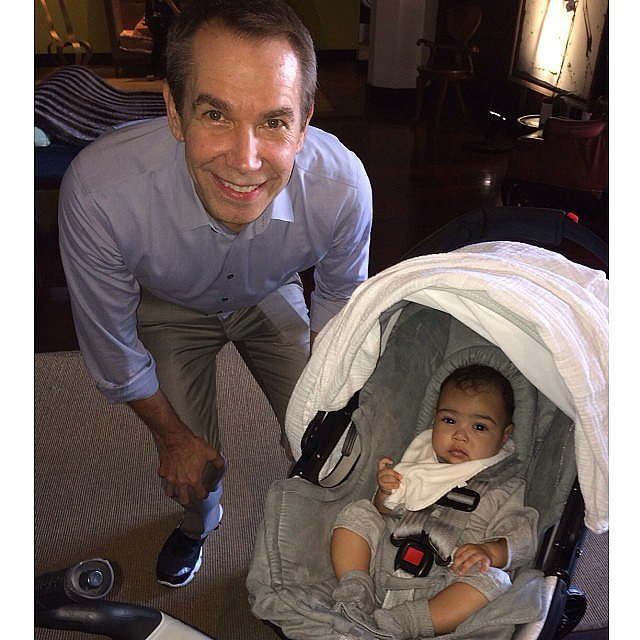 "North got ""art lessons"" with Jeff Koons during Miami's Art Basel in December 2013.  Source: Instagram user kimkardashian"