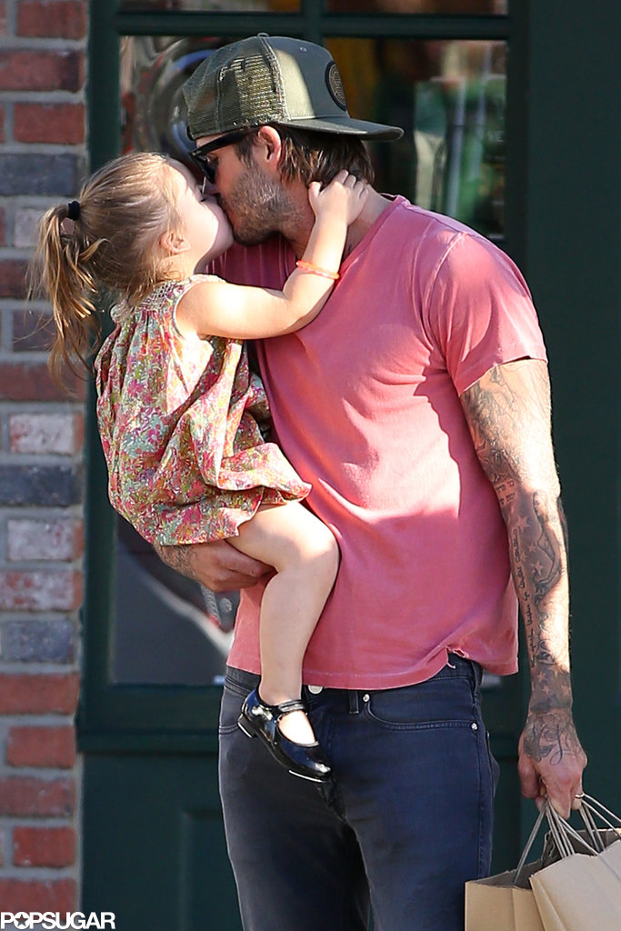 Can you handle the cuteness? David and Harper shared an adorable kiss while out and about in LA in October.