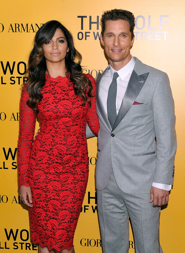 Matthew McConaughey had the support of his wife, Camila Alves, at the NYC premiere of The Wolf of Wall Street.