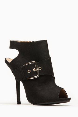 Wild Diva Side Buckle Peep Toe Bootie @ Cicihot Heel Shoes online store sales:Stiletto Heel Shoes,High Heel Pumps,Womens High He