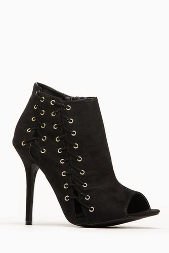 Wild Diva Lace Me Up Black Peep Toe Booties @ Cicihot. Booties spell style, so if you want to show what you're made of, pick up