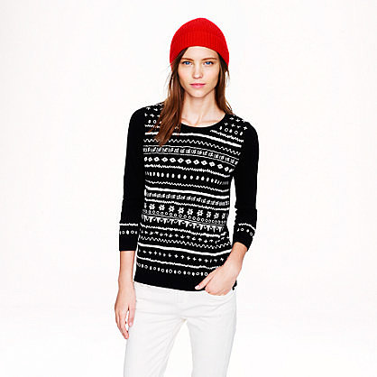 Tippi sweater in embroidered stripe