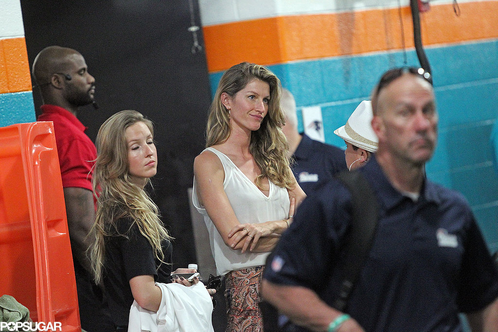 Gisele Bündchen frowned after the New England Patriots lost to the Miami Dolphins.