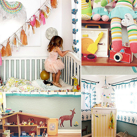 Kids' Rooms: An Eclectic Electric Little Girls' Room