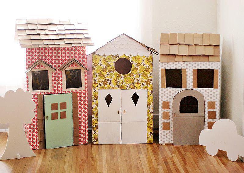 Kid Crafts: Cardboard Box Playhouses