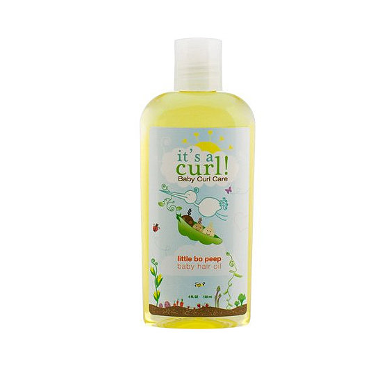 Consider It's a Curl! Hair Oil ($10) like baby-friendly argan oil, since it will moisturize and de-frizz dry curls. It can also be used on the scalp to prevent a newborn's onset of cradle cap.